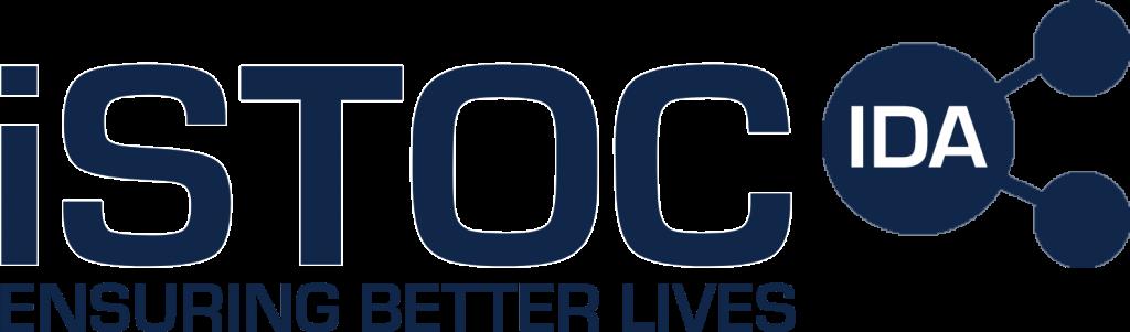 iSTOC logo - blue with slogan