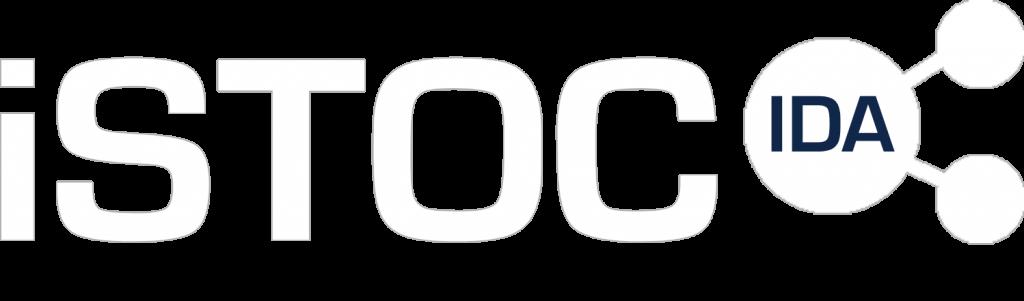 iSTOC logo - white no slogan